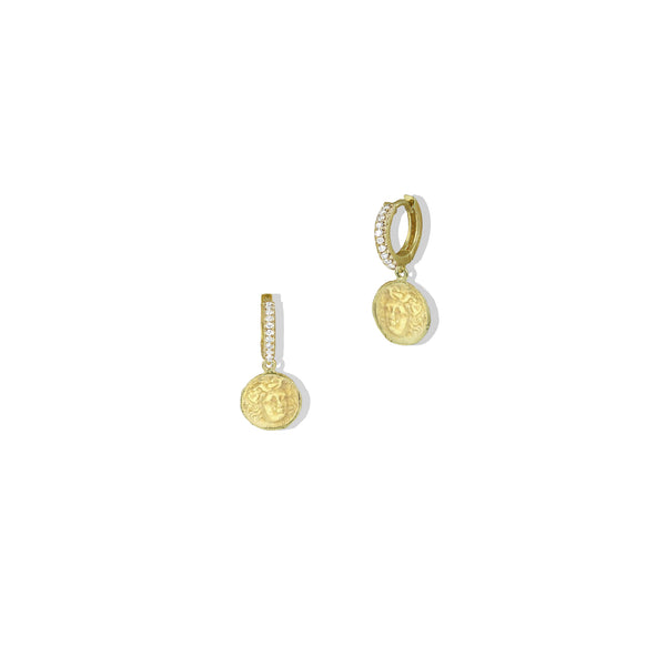 THE MEDUSA COIN EARRING