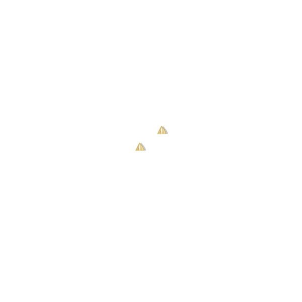 THE 14K GOLD TRIANGLE STUD