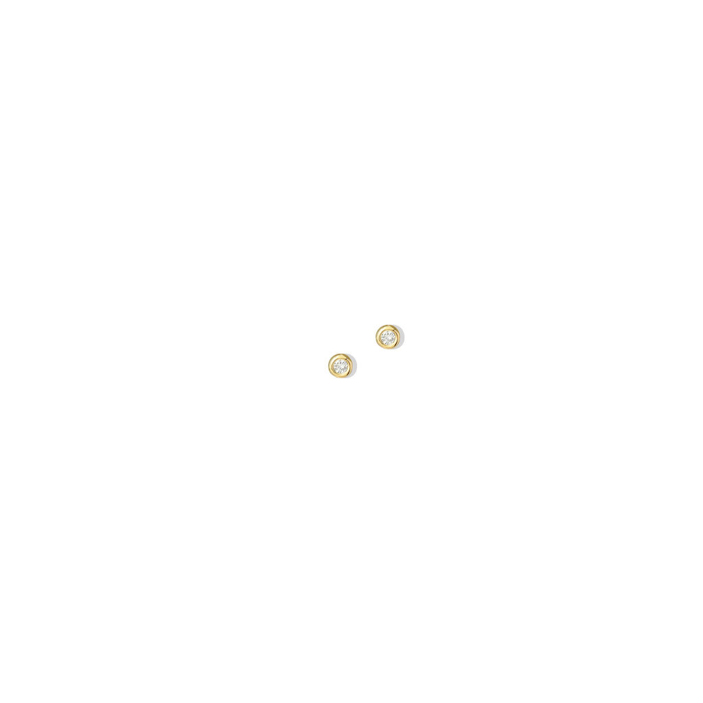 THE 14K GOLD CIRCLE II STUD