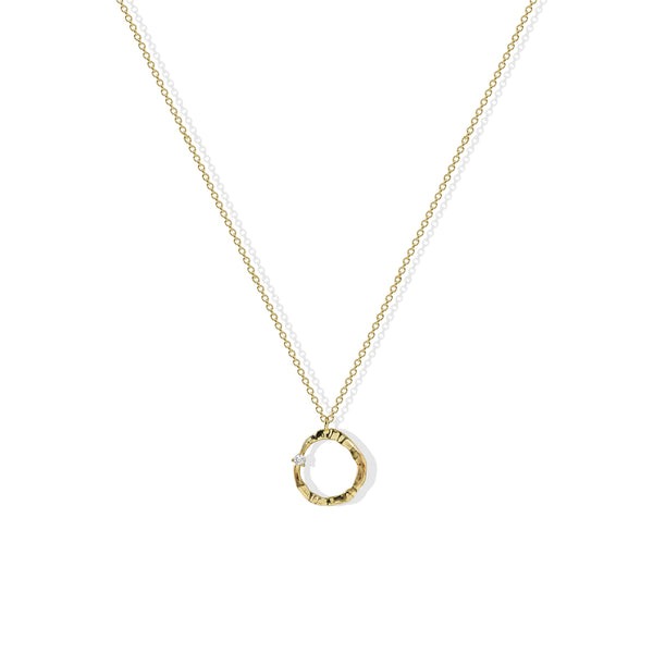 THE CRYSTALLINE OPEN CIRCLE NECKLACE