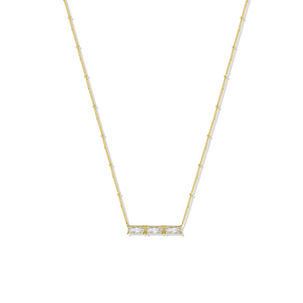 THE TRIPLE BAGUETTE NECKLACE