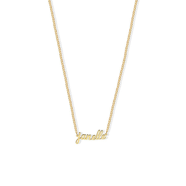 PERSONALIZED LOWERCASE SCRIPT NECKLACE