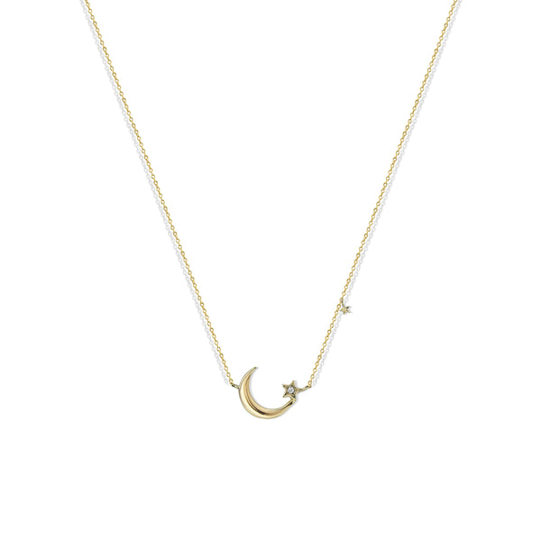 DAINTY MOONSTAR NECKLACE