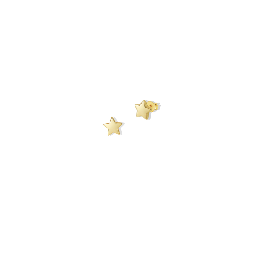 THE 14K GOLD STAR STUD