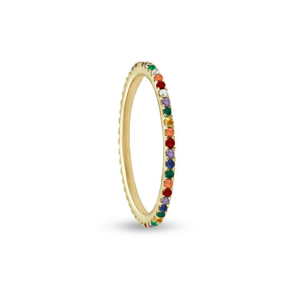 DAINTY RAINBOW RING