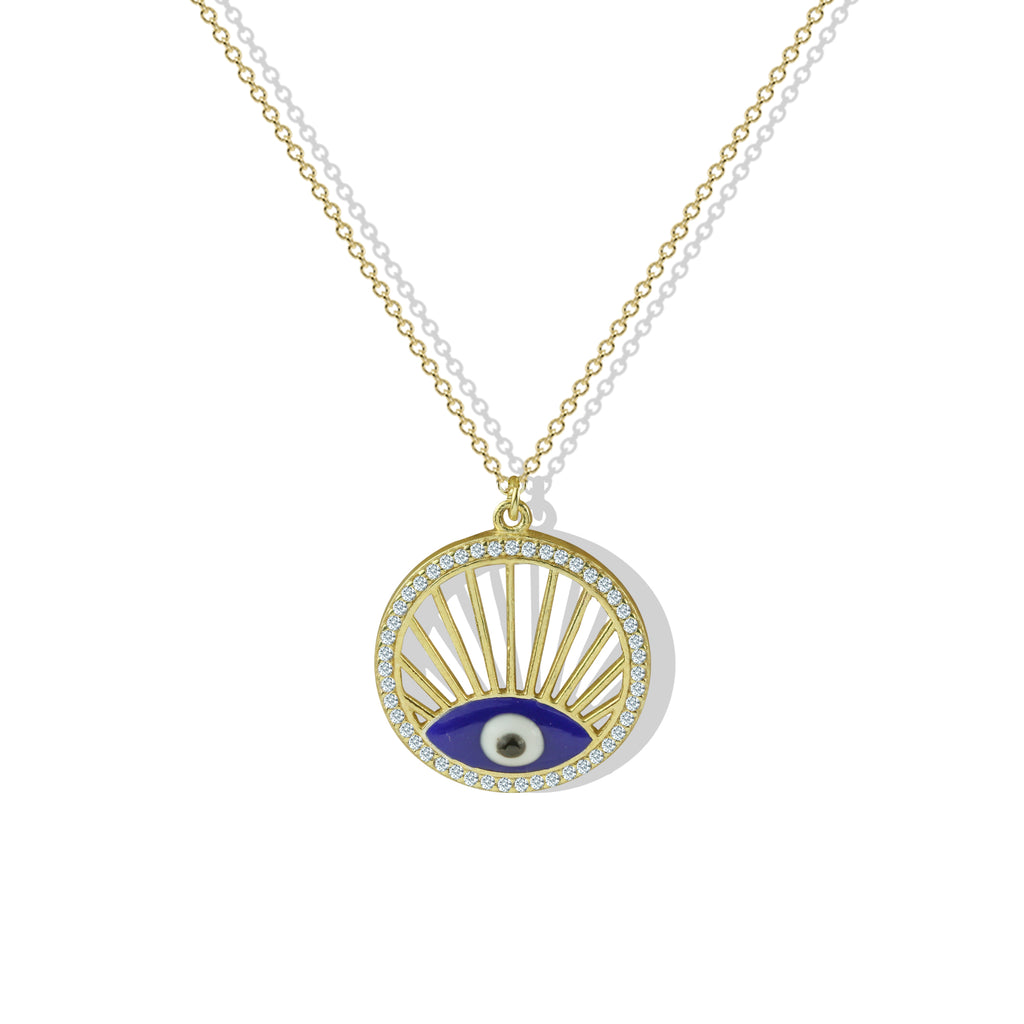 THE EVIL EYE MEDALLION NECKLACE