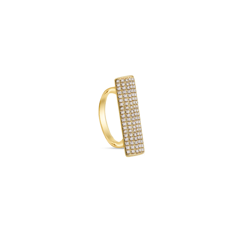 THE PAVE BAR RING