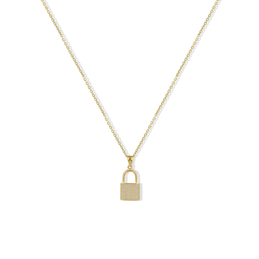 THE PAVE LOCK NECKLACE