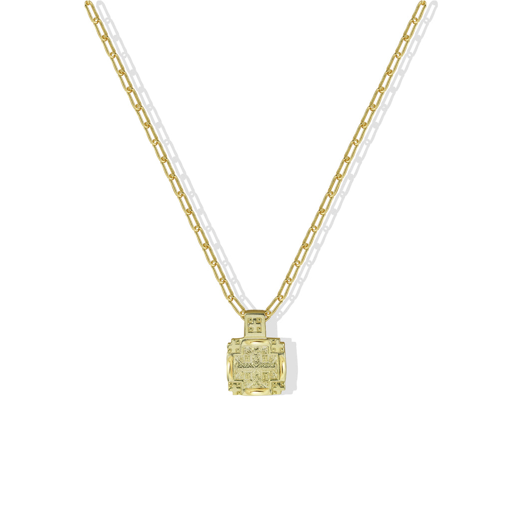THE SQUARE JESUS PENDANT NECKLACE