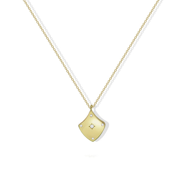 THE SHIELD CZ PENDANT NECKLACE