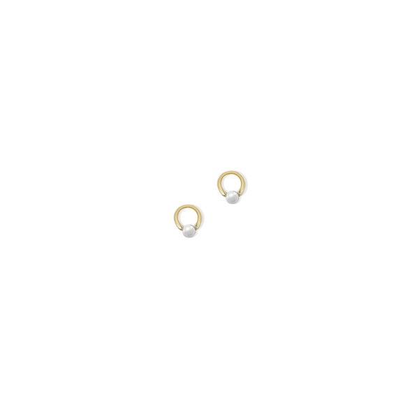 THE 14K GOLD OPEN PEARL STUD