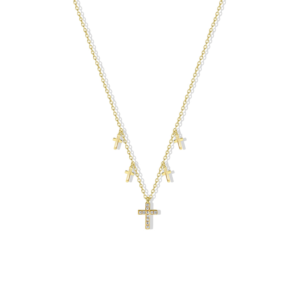 THE TINY MULTI CROSS NECKLACE