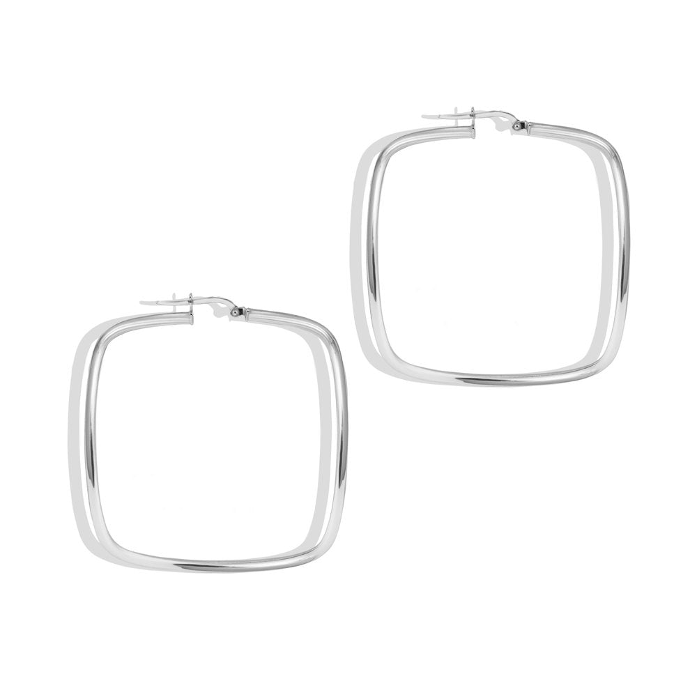 OVERSIZED SQUARE HOOP