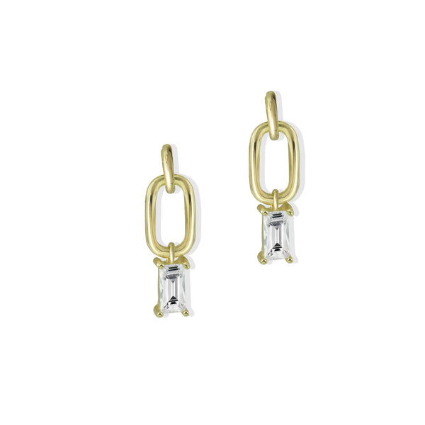 DROP BAGUETTE EARRING