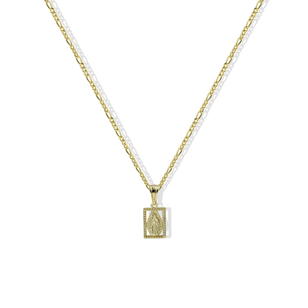 THE SQUARE VIRGIN MARY PENDANT