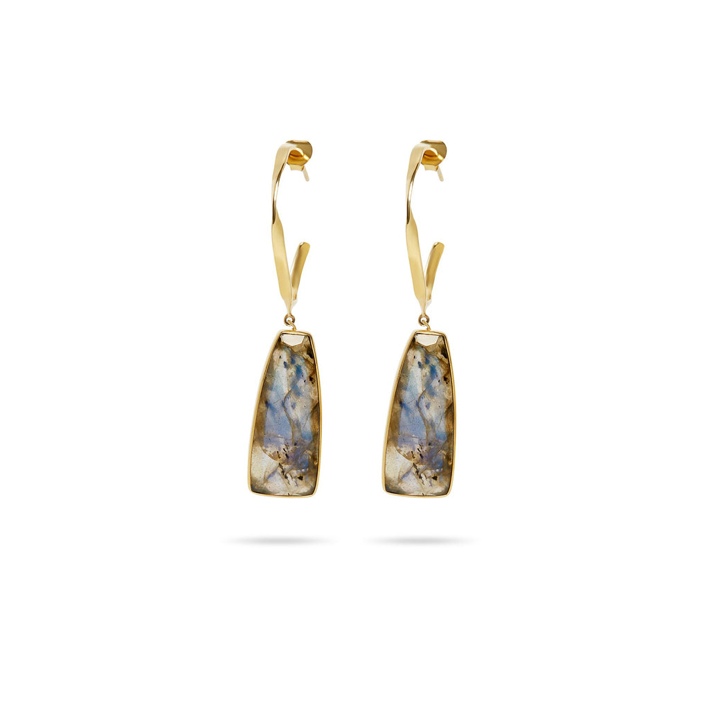 THE LABRADORITE DROP EARRING