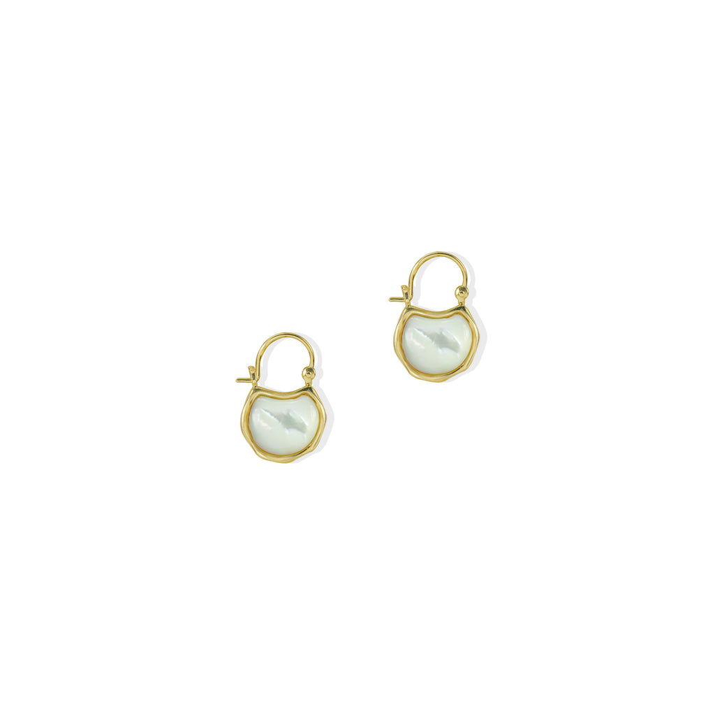 THE MOTHER OF PEARL AMI EARRING