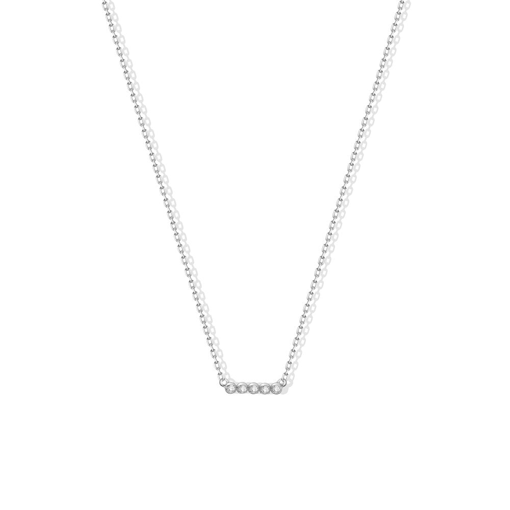MINI CZ BAR PENDANT NECKLACE