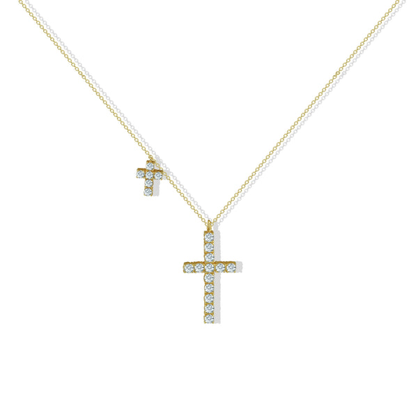 THE CZ DOUBLE CROSS PENDANT
