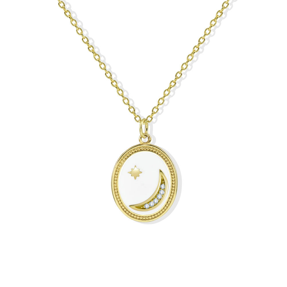 ENAMEL MOONSTAR NECKLACE