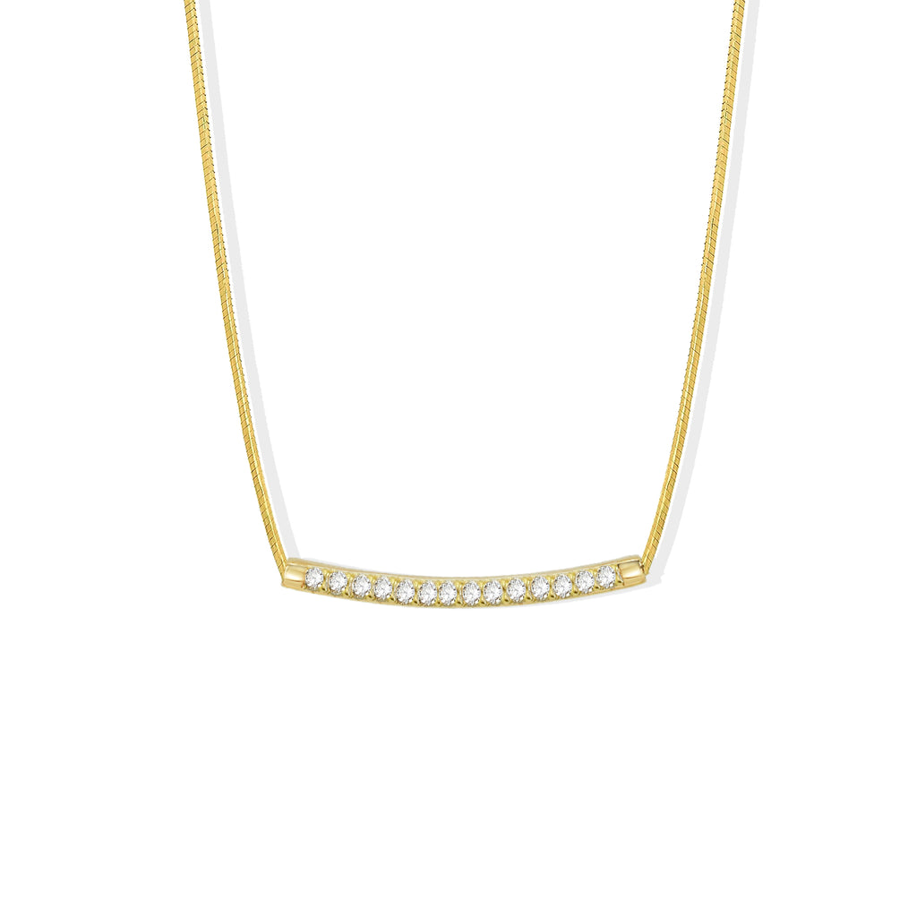 THE CZ BAR WIRED NECKLACE