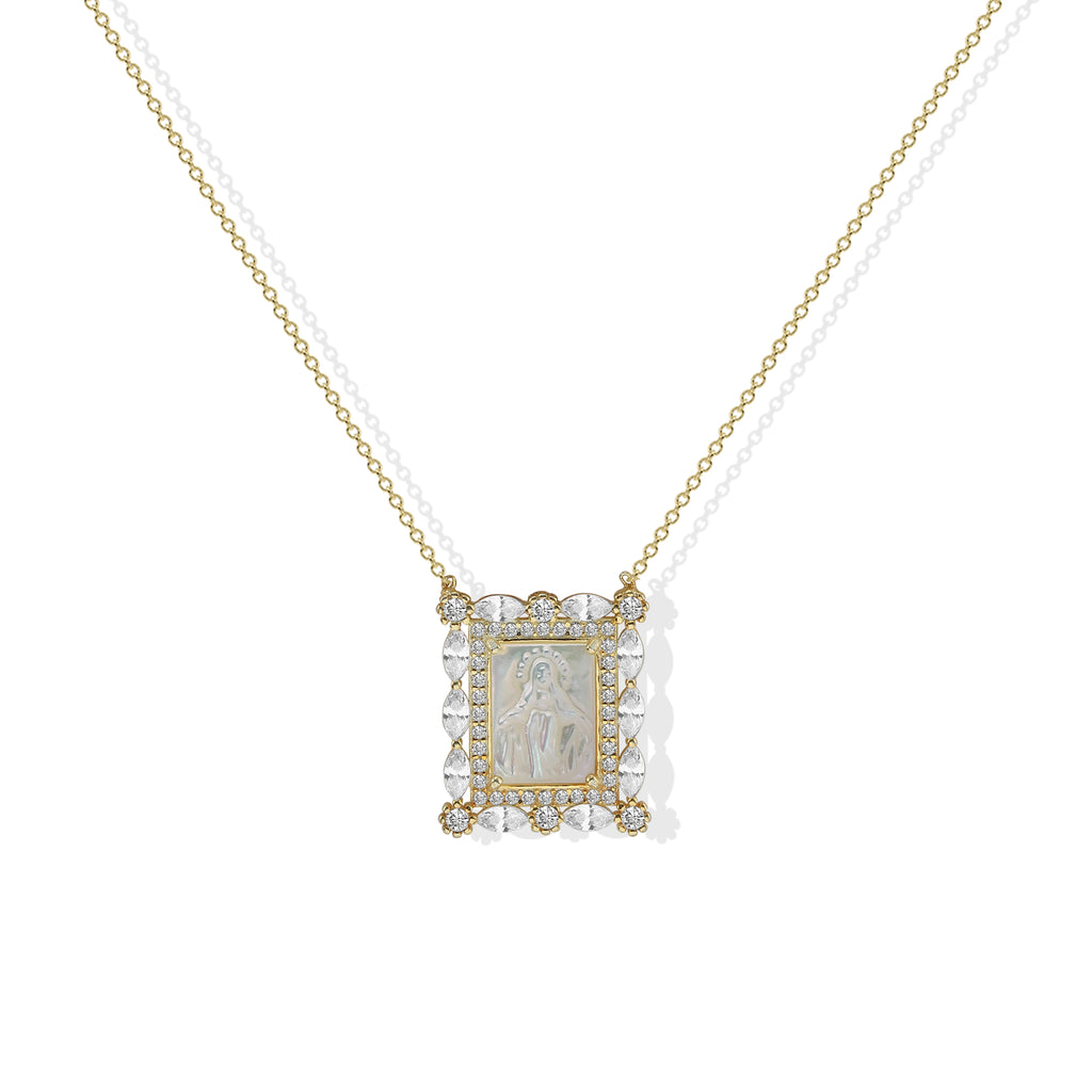 THE VIRGIN MARY SQUARE PENDANT
