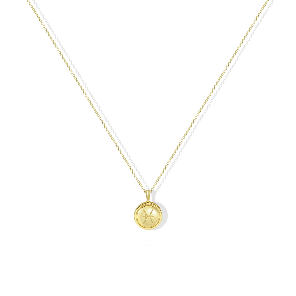 THE MOTHER OF PEARL ZODIAC NECKLACE