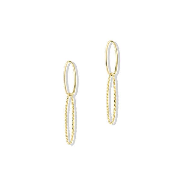 OVAL ROPE DROP EARRINGS