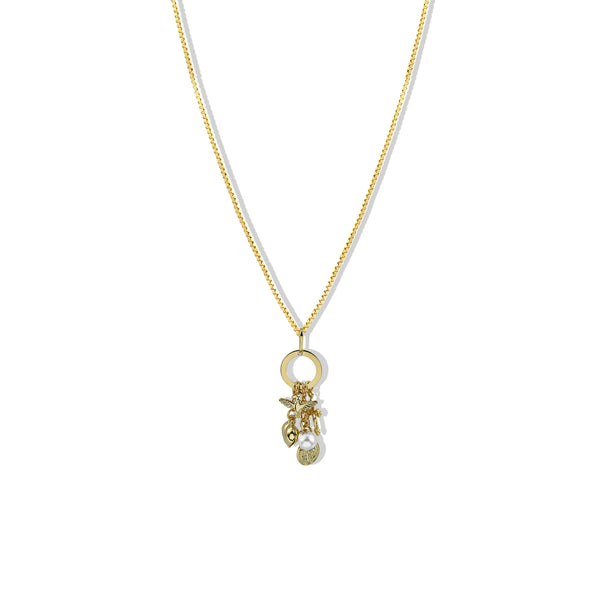 THE MULTI CHARM DROP NECKLACE