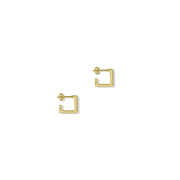 THE CZ SQUARE EARRING