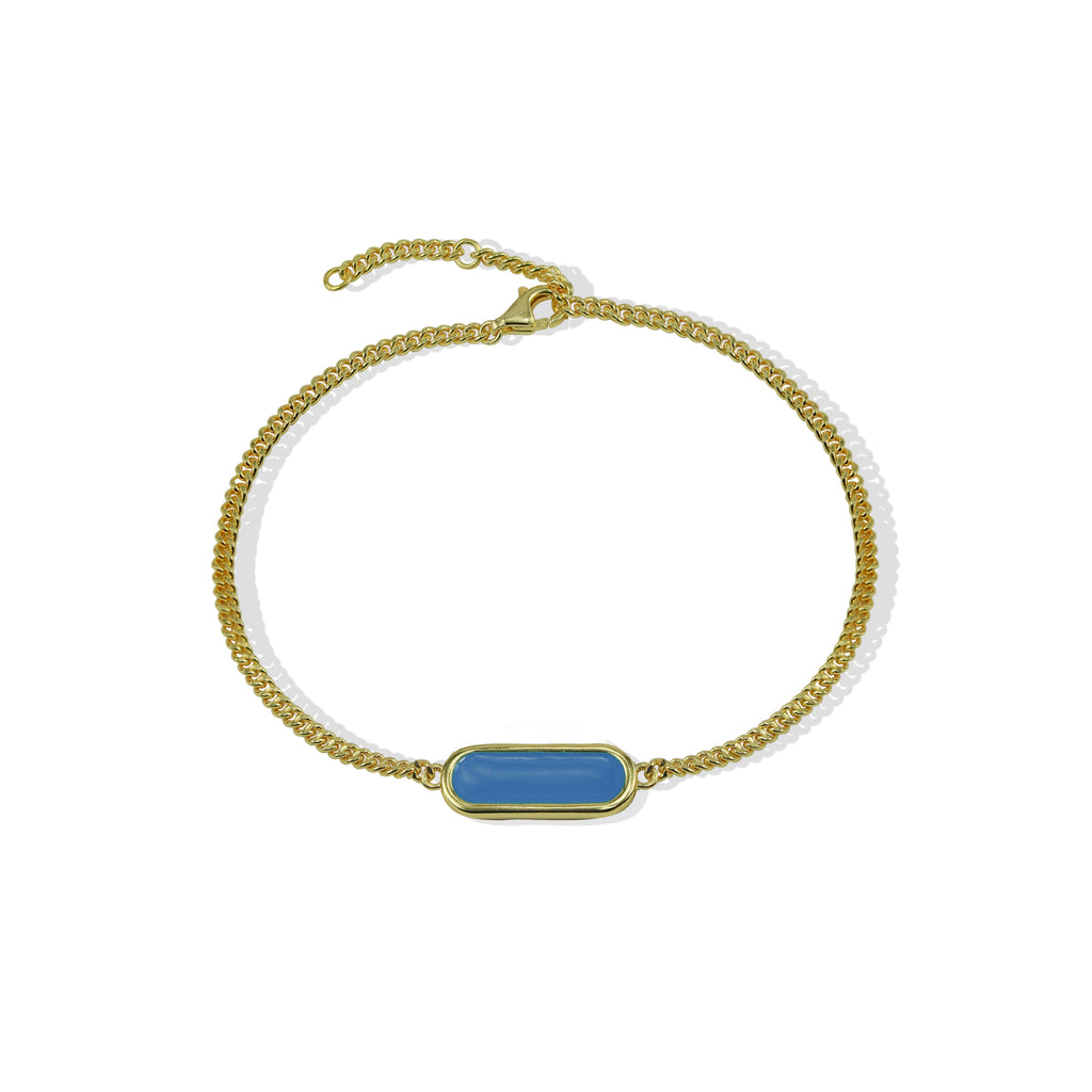 THE OPHELIA OVAL ENAMEL BRACELET