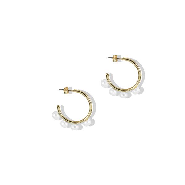 THE ALLEGRA PEARL HOOP