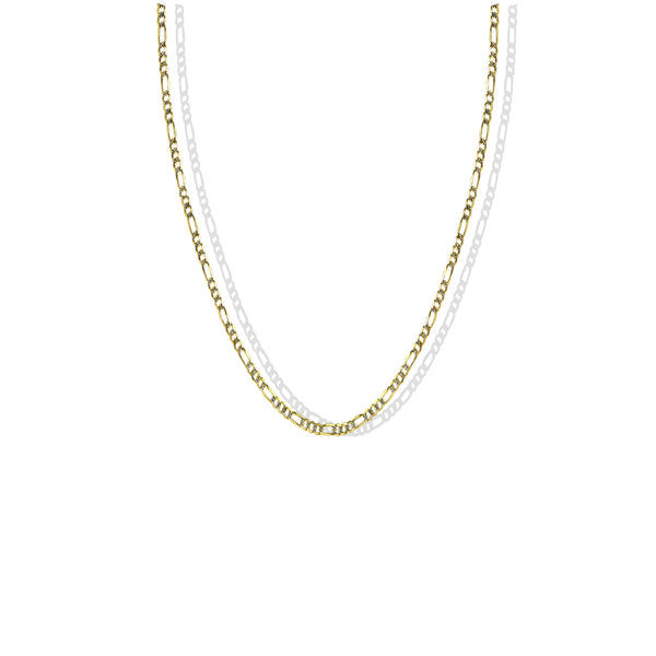 THE TWO TONE CURB CHAIN NECKLACE