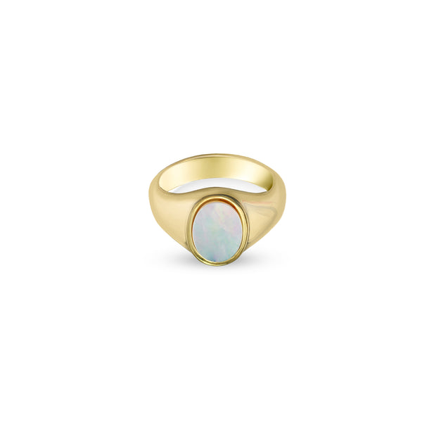 THE MOTHER OF PEARL SIGNET RING