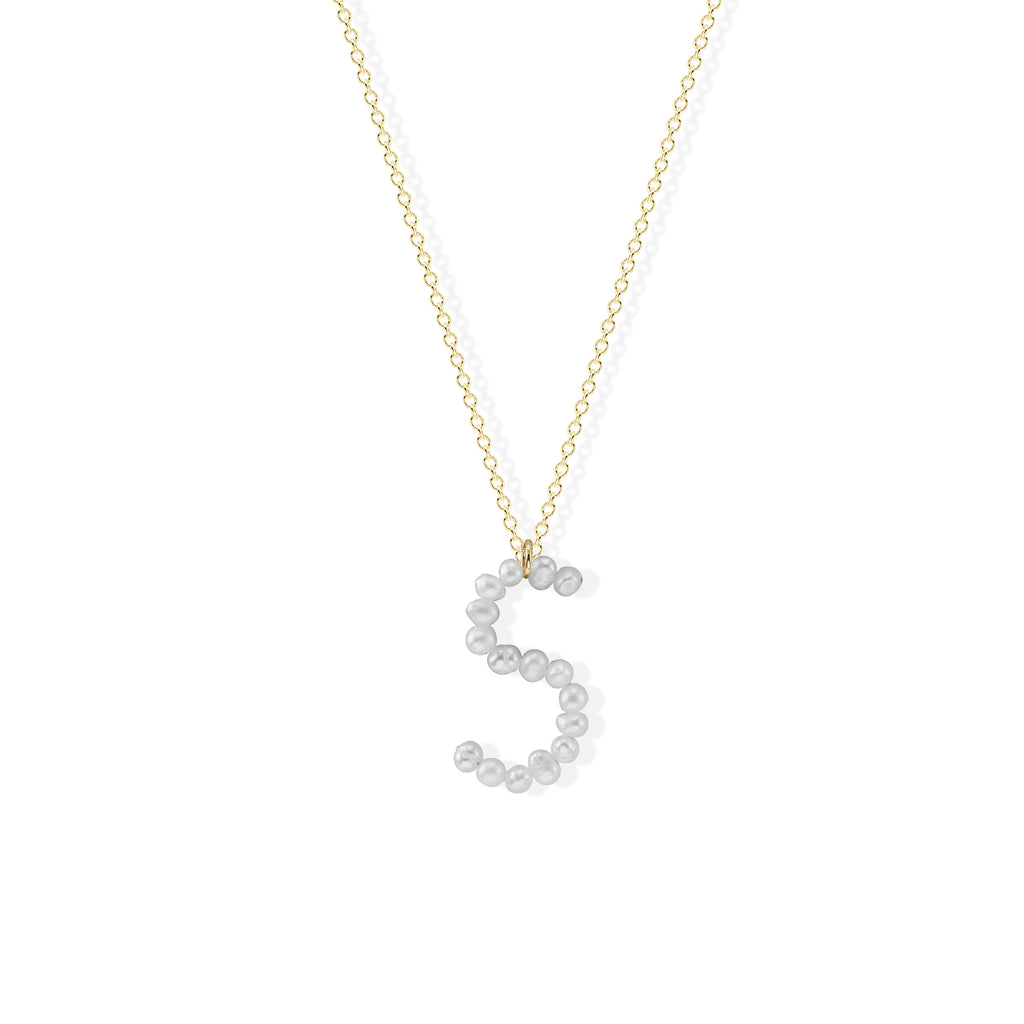 THE PEARL INITIAL NECKLACE
