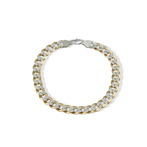 THE TWO TONE CURB CHAIN BRACELET