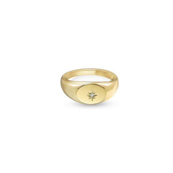 THE CIEL DE NUIT SIGNET RING