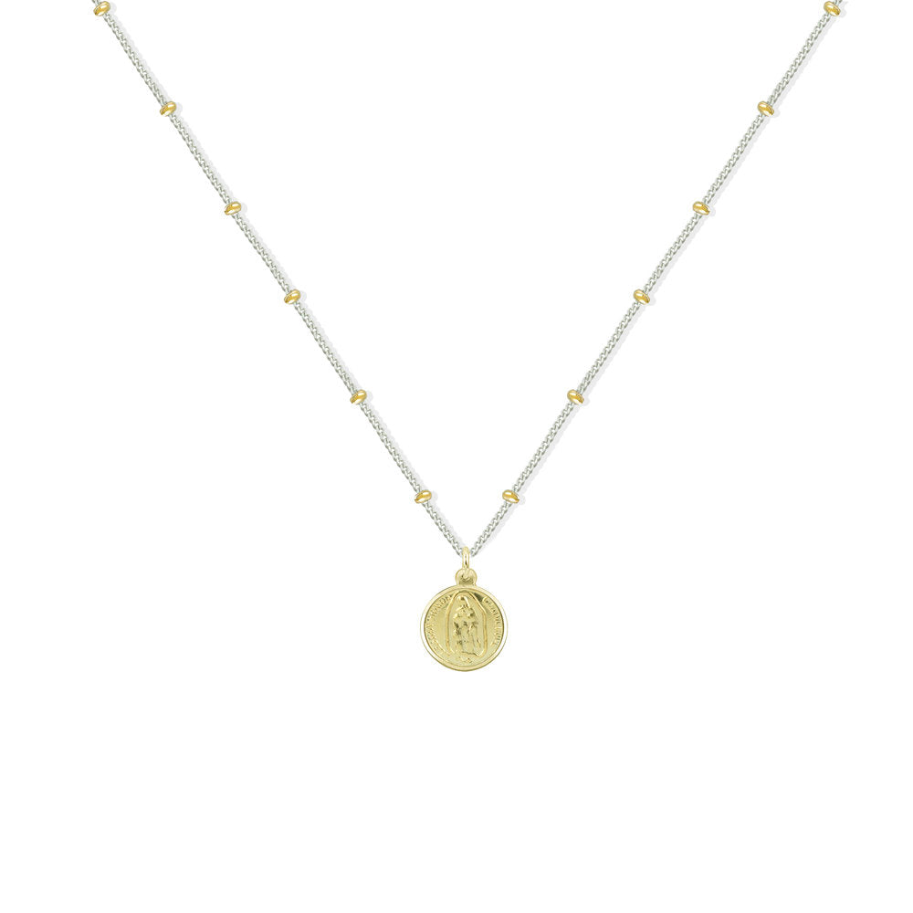 GUADALUPE ROUND COIN NECKLACE