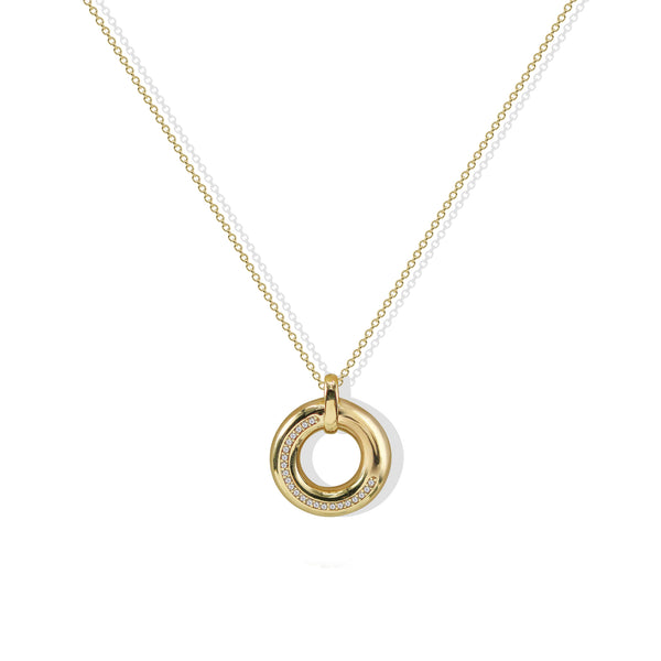 THE SMALL CIRCLE PENDANT NECKLACE