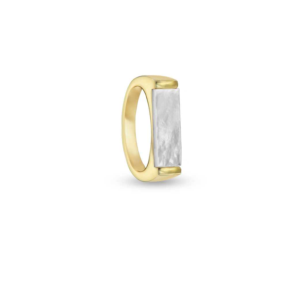 THE ELLE MOTHER OF PEARL RING