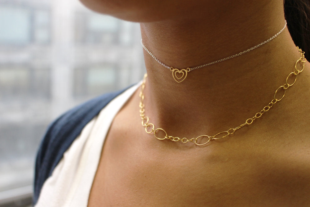DOUBLE HEART CHOKER