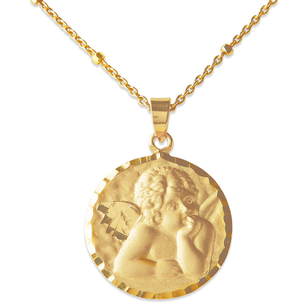 SMALL ANGEL COIN NECKLACE