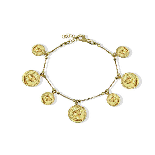 THE GRECIAN COIN BRACELET