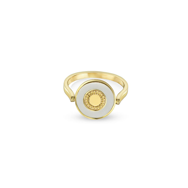THE WHITE ENAMEL EVIL EYE RING