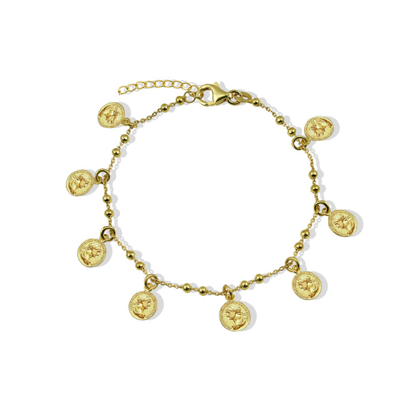 THE GRECIAN MINI COIN BRACELET