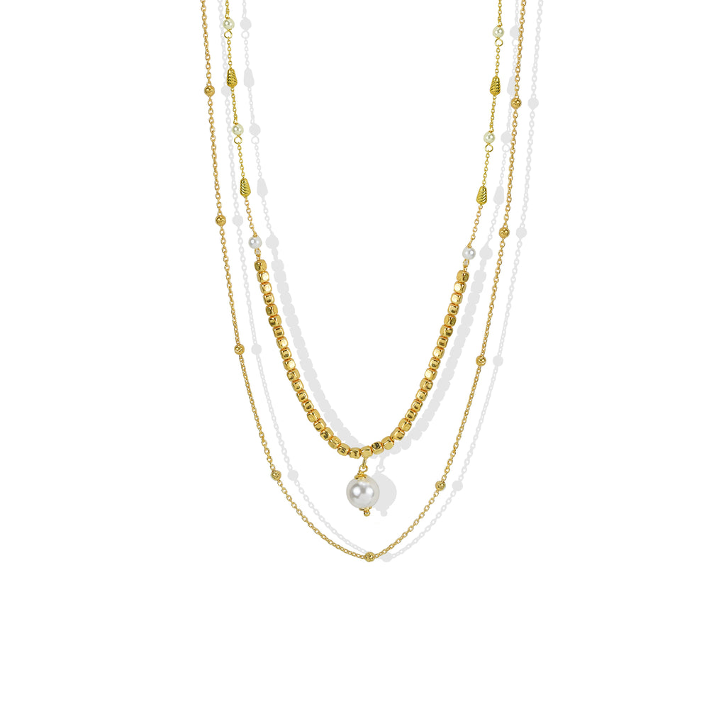 THE LAYERED PEARL NECKLACE