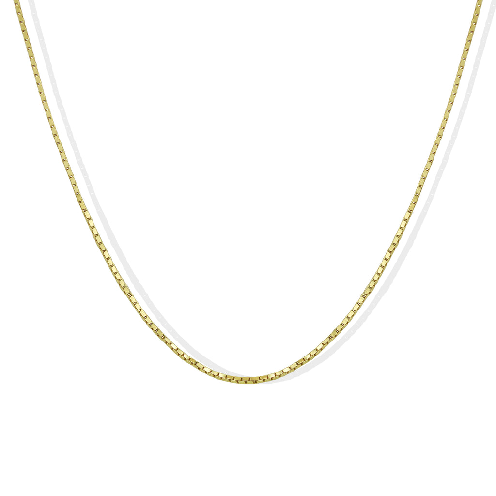 THE MINI BOX CHAIN NECKLACE