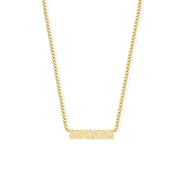 THE PERSONALIZED BLOCK FONT NECKLACE