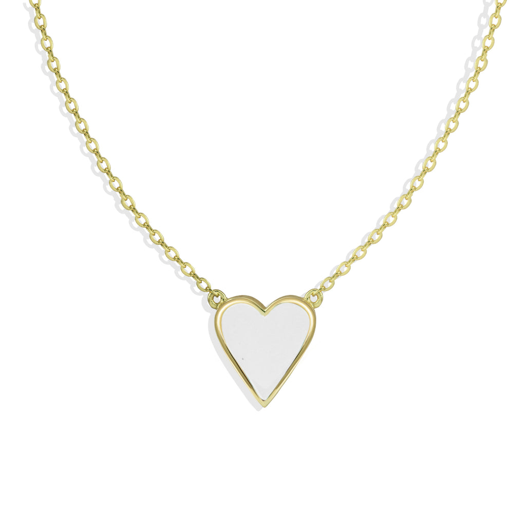 NEW ENAMEL HEART NECKLACE