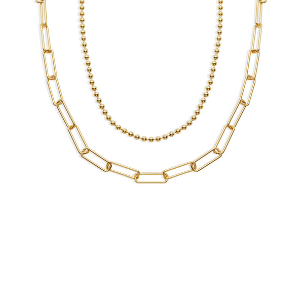 THE EVA LINK LAYERED NECKLACE